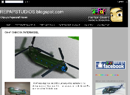 cheap CH-47 Chinook Paper model