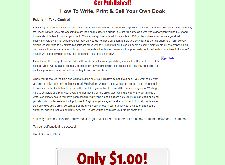 cheap Get Published!