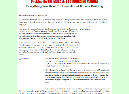 cheap Packing On The Muscle - Bodybuilding Manual