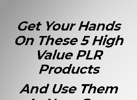 cheap 5 High Value Gold pack of PLR Products