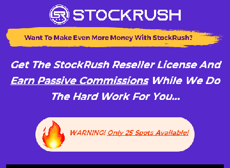 cheap StockRush Reseller License (75% Commission)