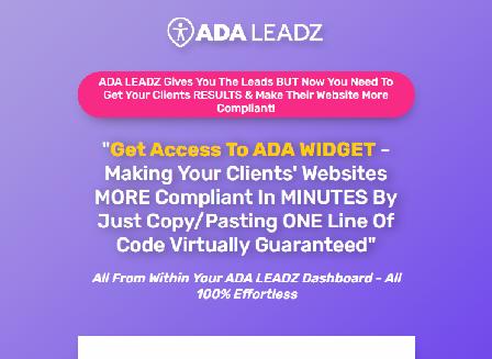 cheap ADA Leadz Website Optimizer