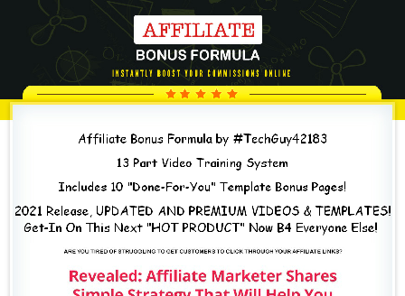 cheap Affiliate Bonus System by #TechGuy42183